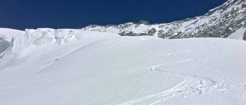 Cheilon, env 3450m, très bonnes neige, 21 mai 16