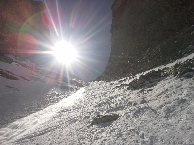 Début de descente sous les falaises...