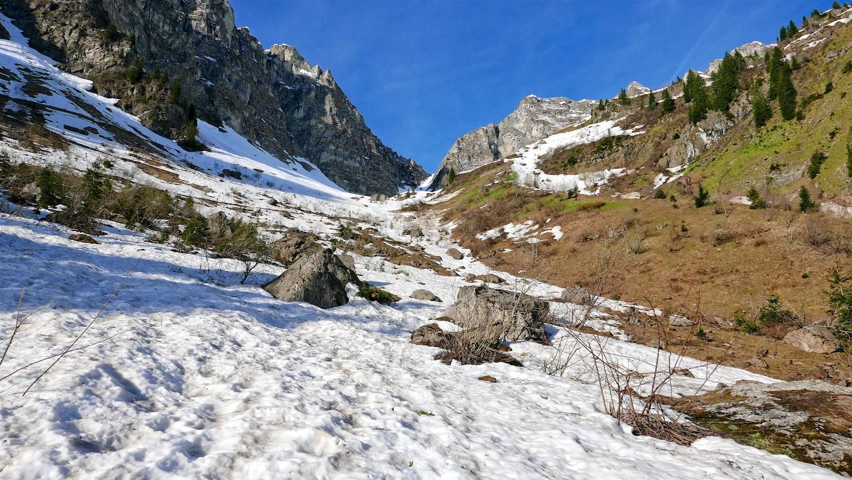 Chaussage à 1400m dans le vallon d'Ardens