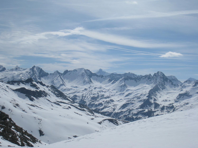 regard vers Italie - col du Mont