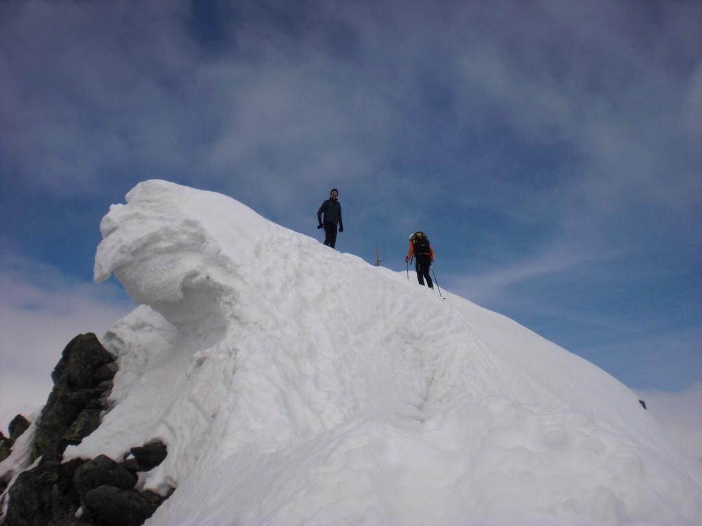 a ski au sommet
