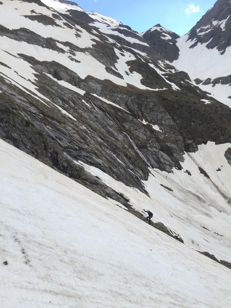 Couloir au pied de la crete du Montferrat