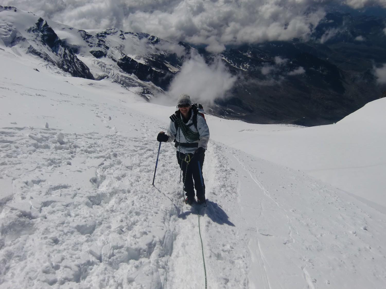 Vers le sommet