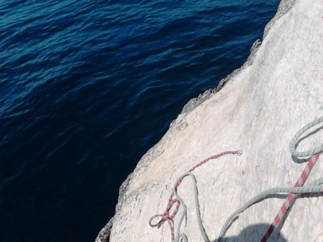 En rappelant la corde, on ne la mouille même pas : la voie parfaite !