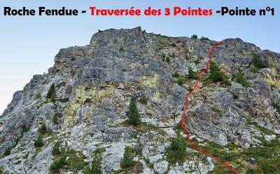 Roche Fendue - Traversée des 3 Pointes