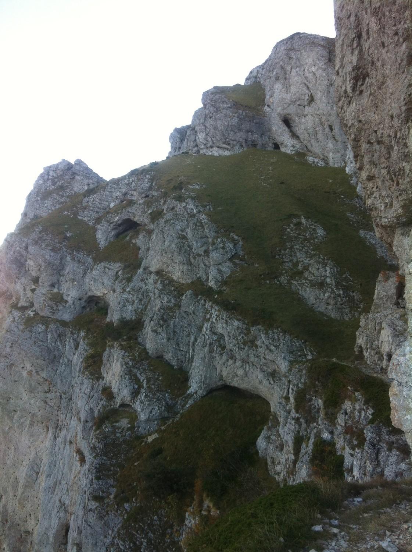 Vue du sommet et des pentes de descente