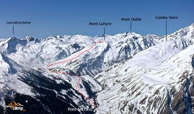 Itinéraire général par le vallon de Vernet