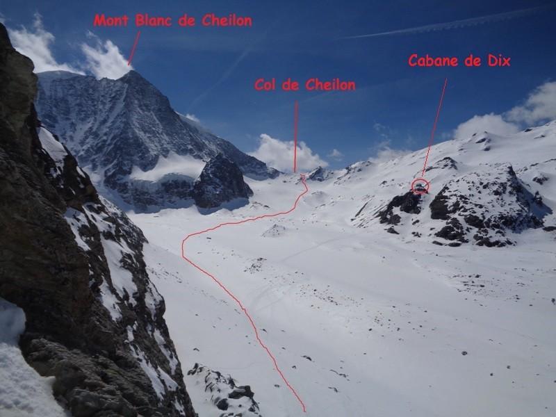 Dal Pas de Chèvre, l'itinerario fino al Col de Cheilon