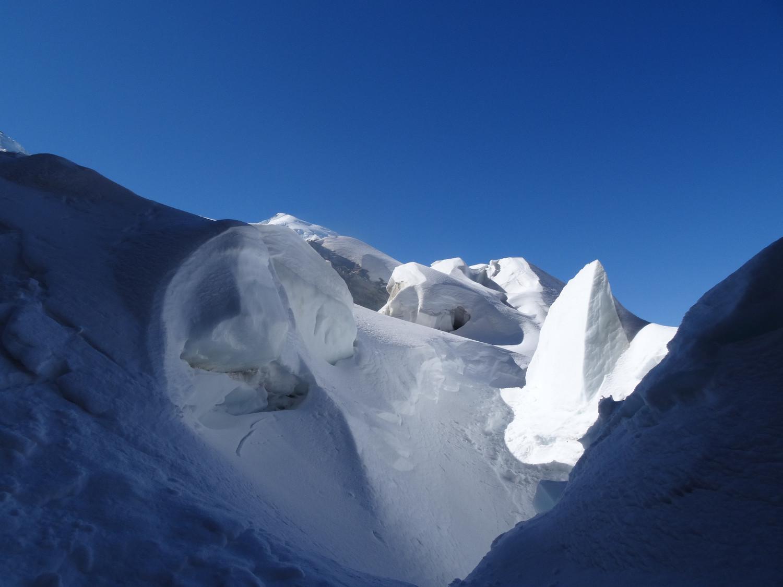 Sur le glacier des Bossons.