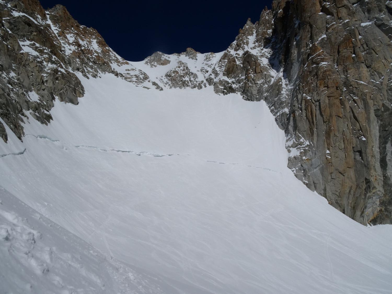 Rimaye du glacier du Milieu.