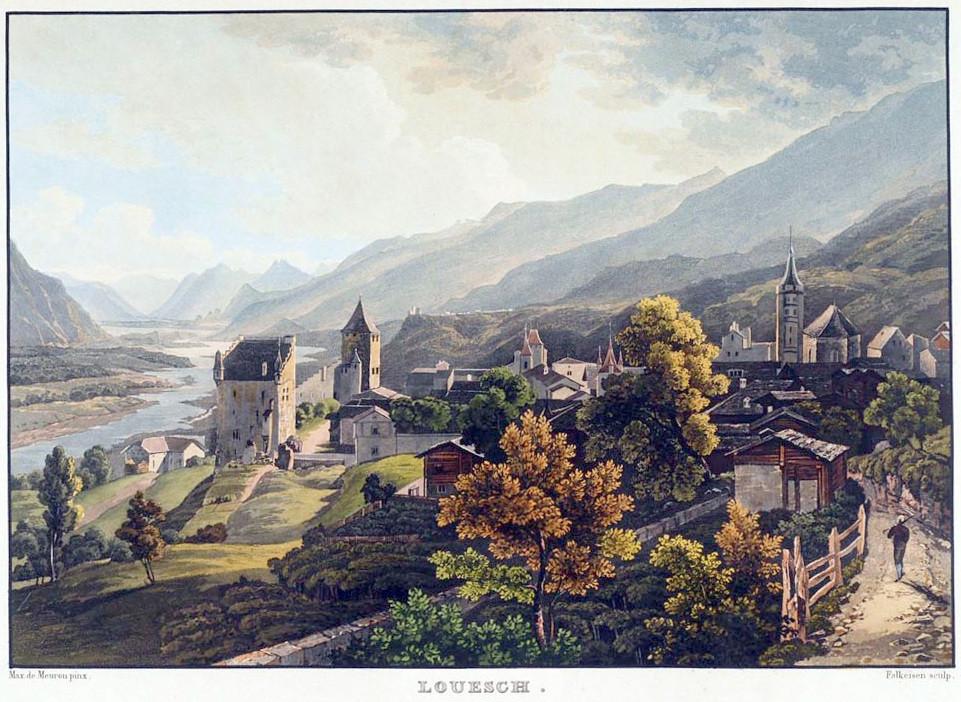 Loèche, vallée du Rhône, par Maximilien de Meuron