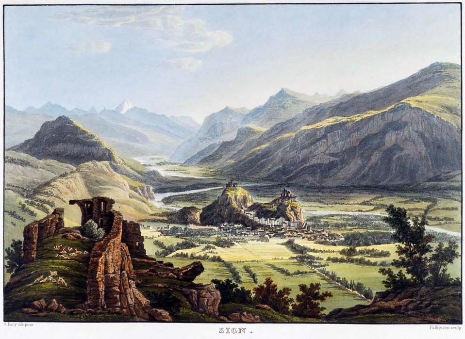 Sion, vallée du Rhône, Bietschhorn, par G. Lory