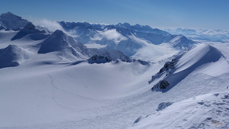 Début de la descente sur le glacier