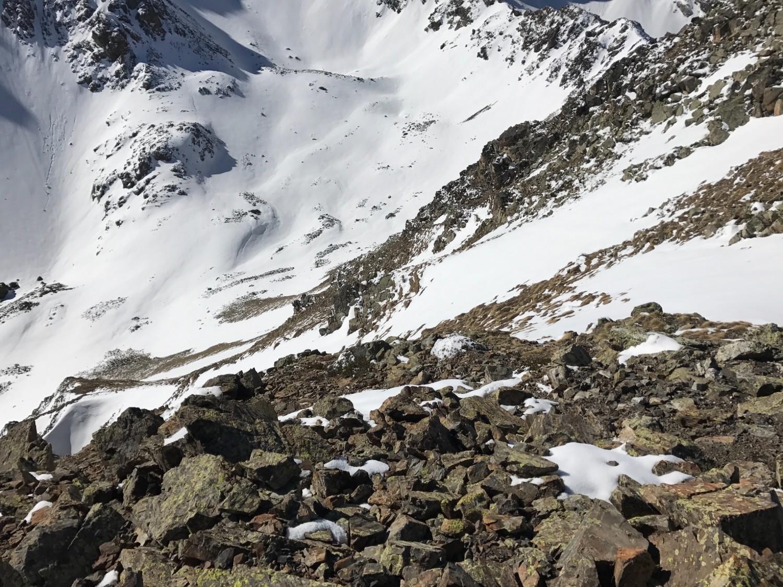 La descente pour rejoindre le Montfaucon c'est sec