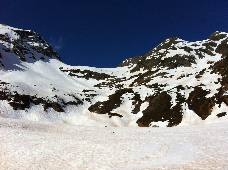 La barre rocheuse à  2200 m