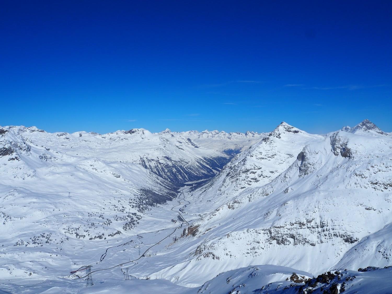 La vallata del Bernina dalla vetta