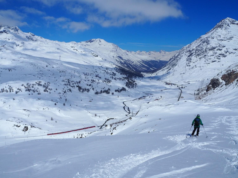 Discesa e trenino rosso del Bernina
