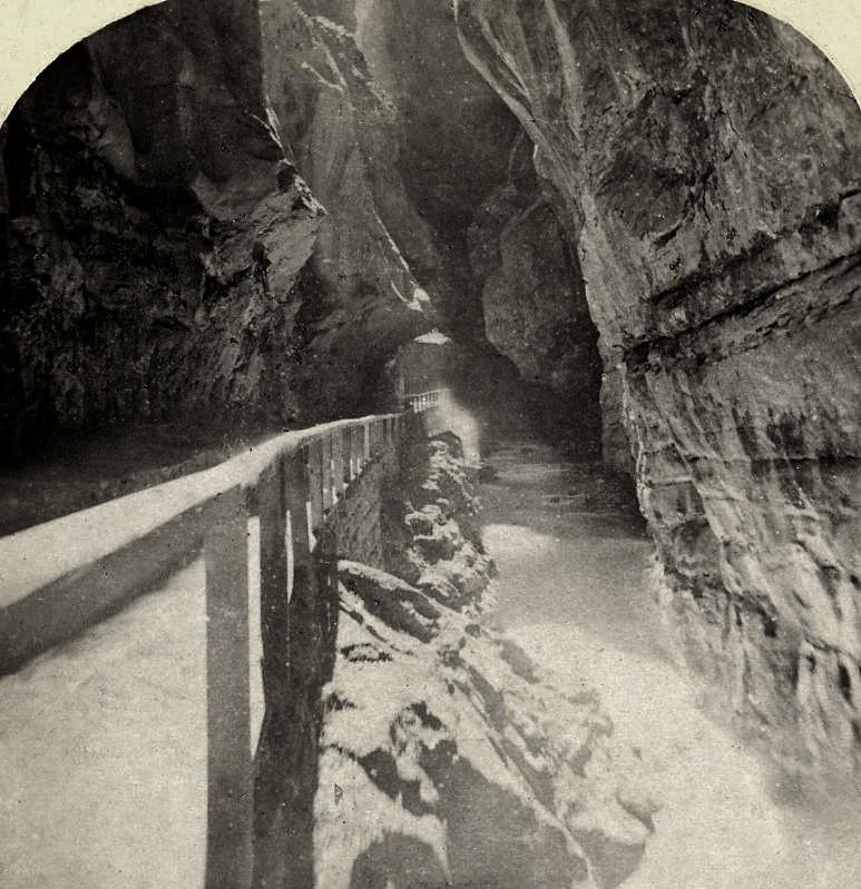 Gorge de Pfäffers en 1885 par Gabler