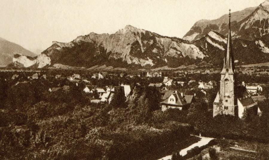 Ragaz et la vallée du Rhin
