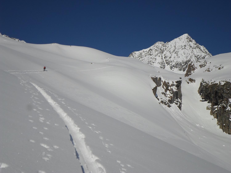 Verso il Fleckistock visibile sullo sfondo.