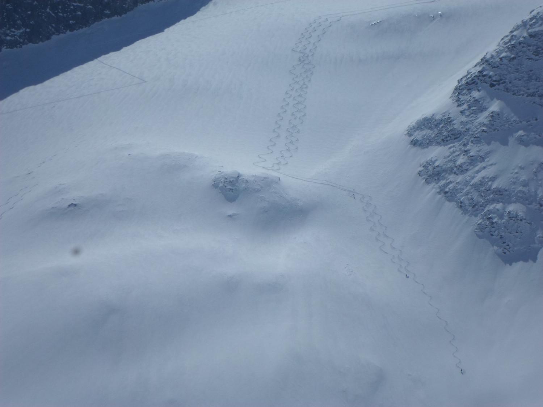 Le belle tracce che ci hanno invogliato a salire anche verso la Rorspitzli dopo il tentativo al Fleckistock.
