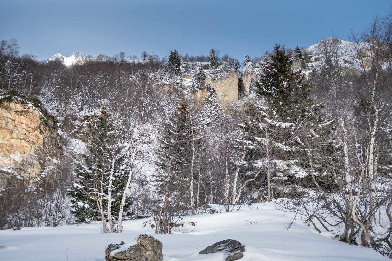 Montée au refuge Peclet Polset (1800m - Ouest)