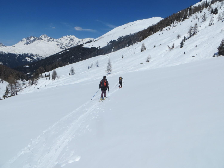 Il ritorno verso l'Alpe Borron