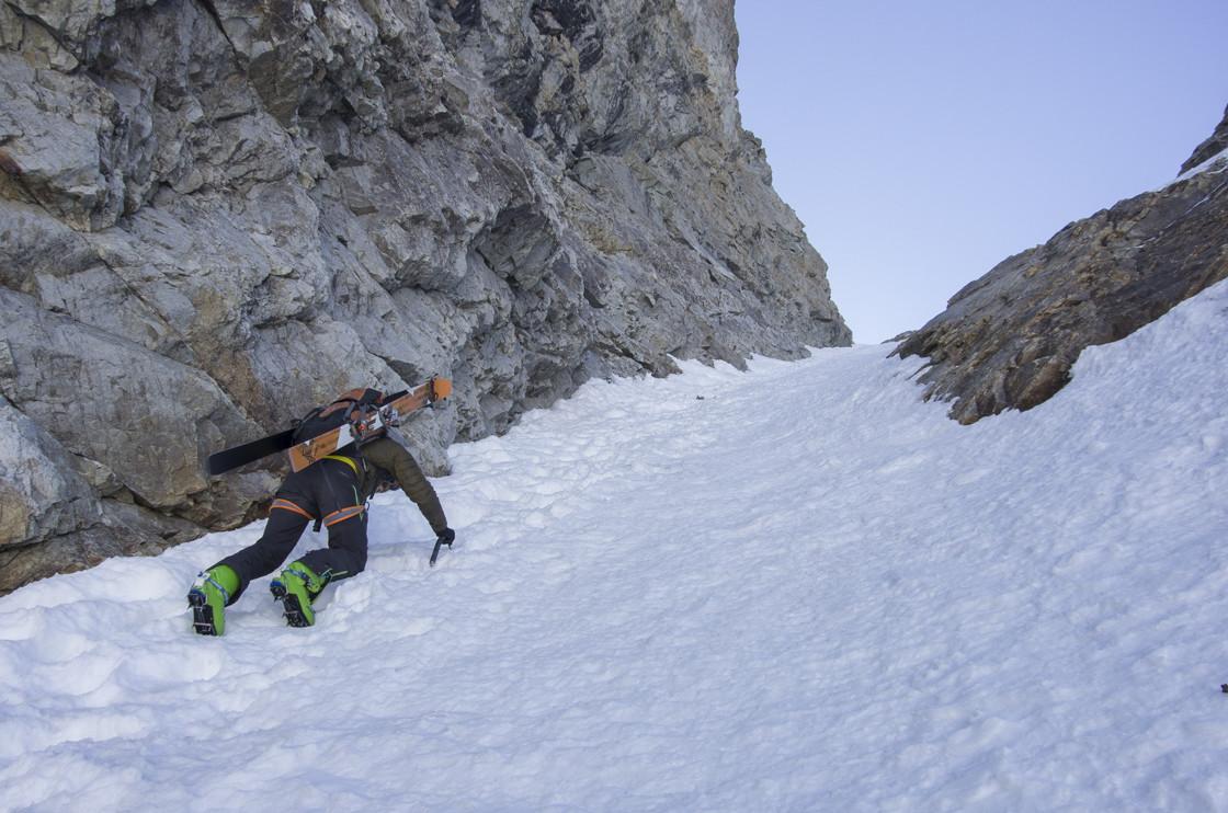 Serret du Savon en neige dure
