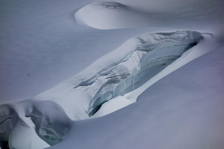 Crevasse  du Glacier de la Tribolazione