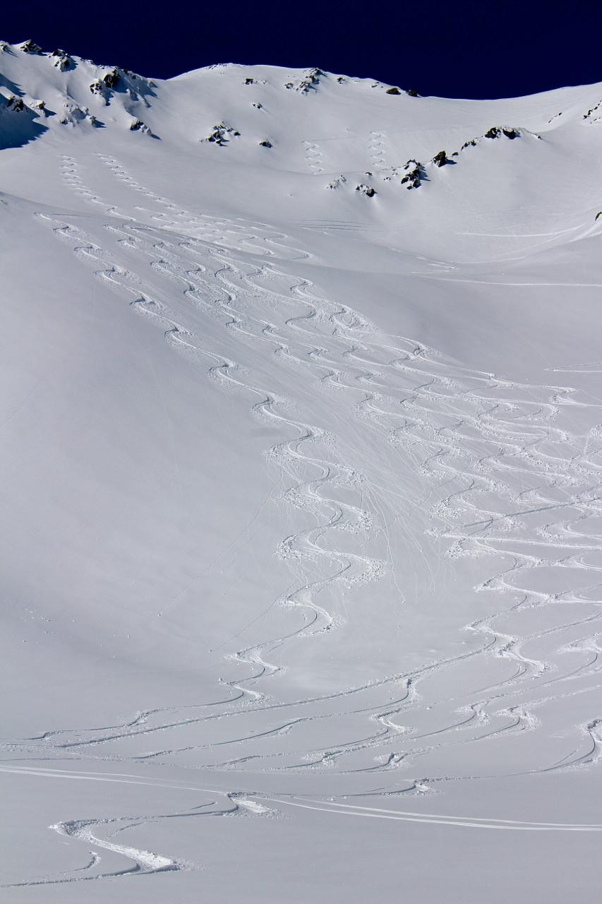 A neuf heures du mat ça skie