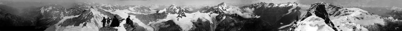 Panorama pris du sommet du Cervin, par Vittorio Sella