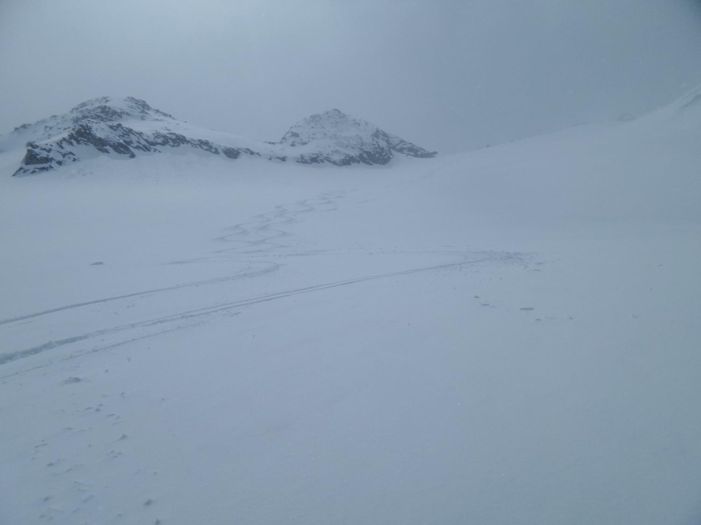 La meilleure neige a été en haut du glacier de Pièces