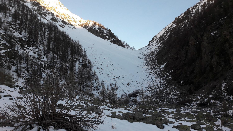 Montée à ski possible avant l'entrée du vallon du Petit Tabuc