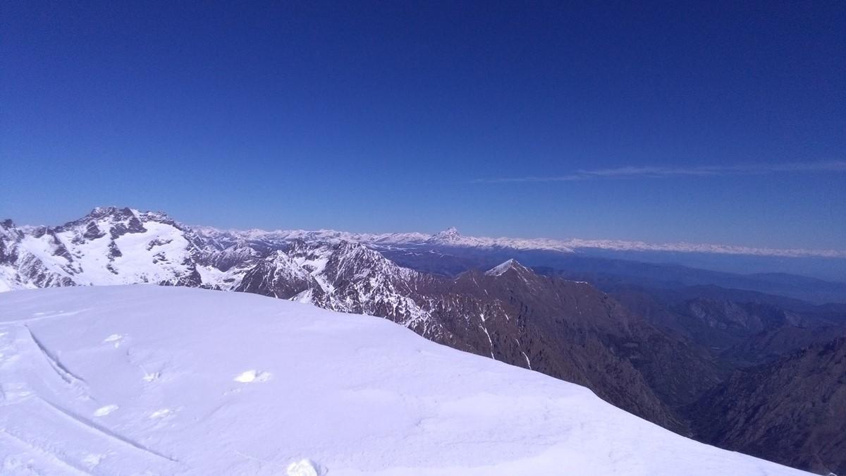 Vue dégagée sur les Alpes