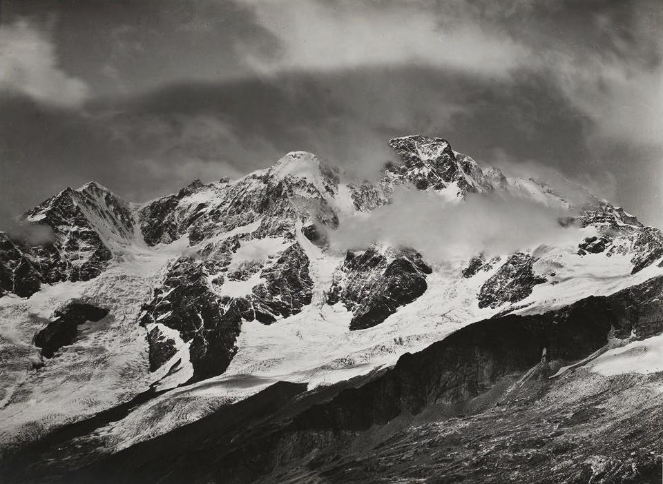 Monte Rosa, vu du Fallerhorn par Vittorio Sella en 1883