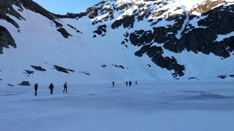 Le lac encore bien gelé (enfin presque...)