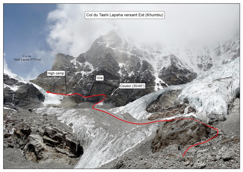 Col du Tashi Lapasha versant Est