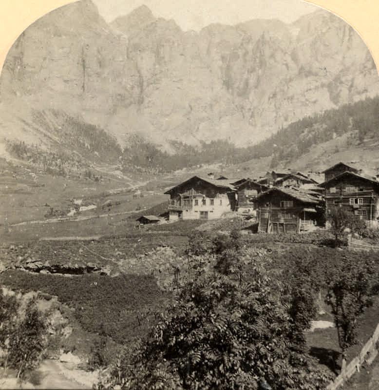 Löche les Bains et La Gemmi par Gabler en 1885