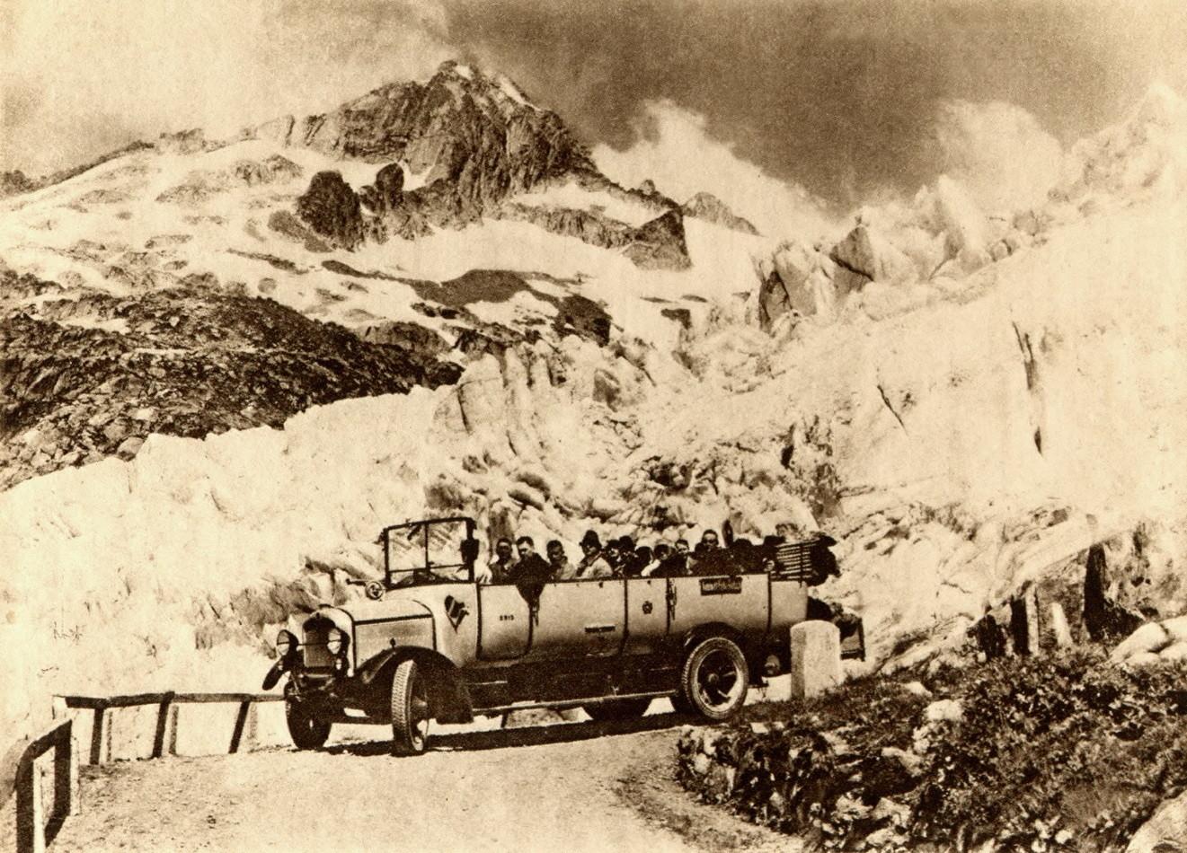 Glacier du Rhône - Gärstenhörner - Route de la Furka, avant 1929