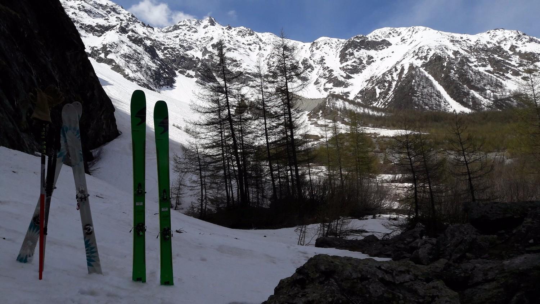 La limite skiable, vers 1720m !