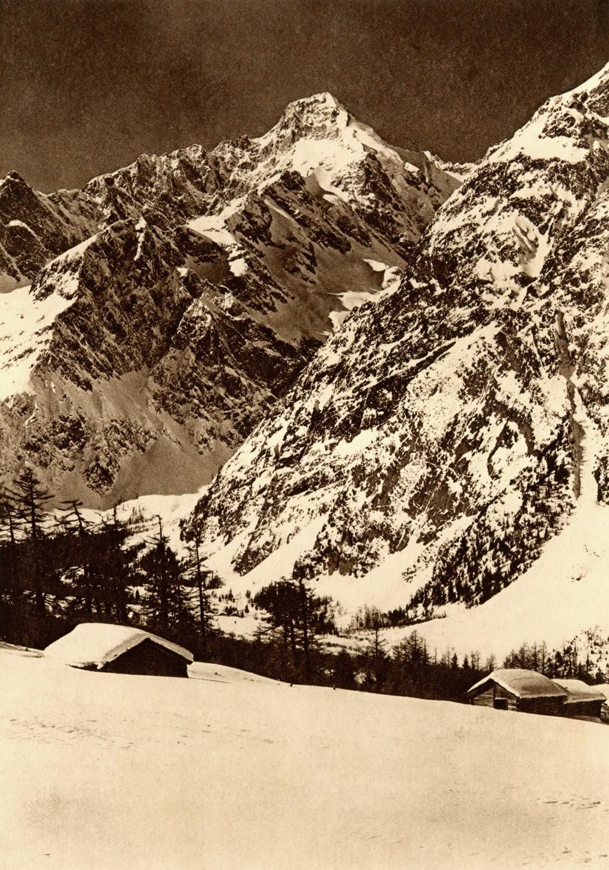 Mont Dolent vu du Val Ferret Suisse par Boissonnas