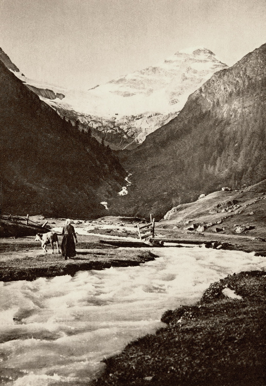 Lötschental, torrent de Fäfler et Breithorn S par Gyger