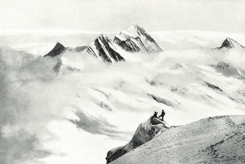 Finsteraarhorn par Theodor Wundt, en 1898