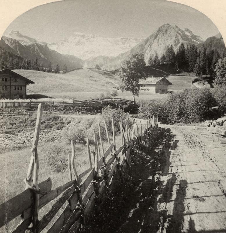Wildstrubel vu d'Adelboden par Gabler 1885