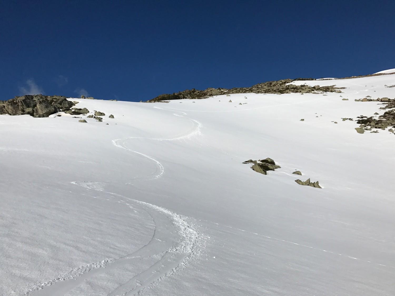 Bonne neige sur le haut