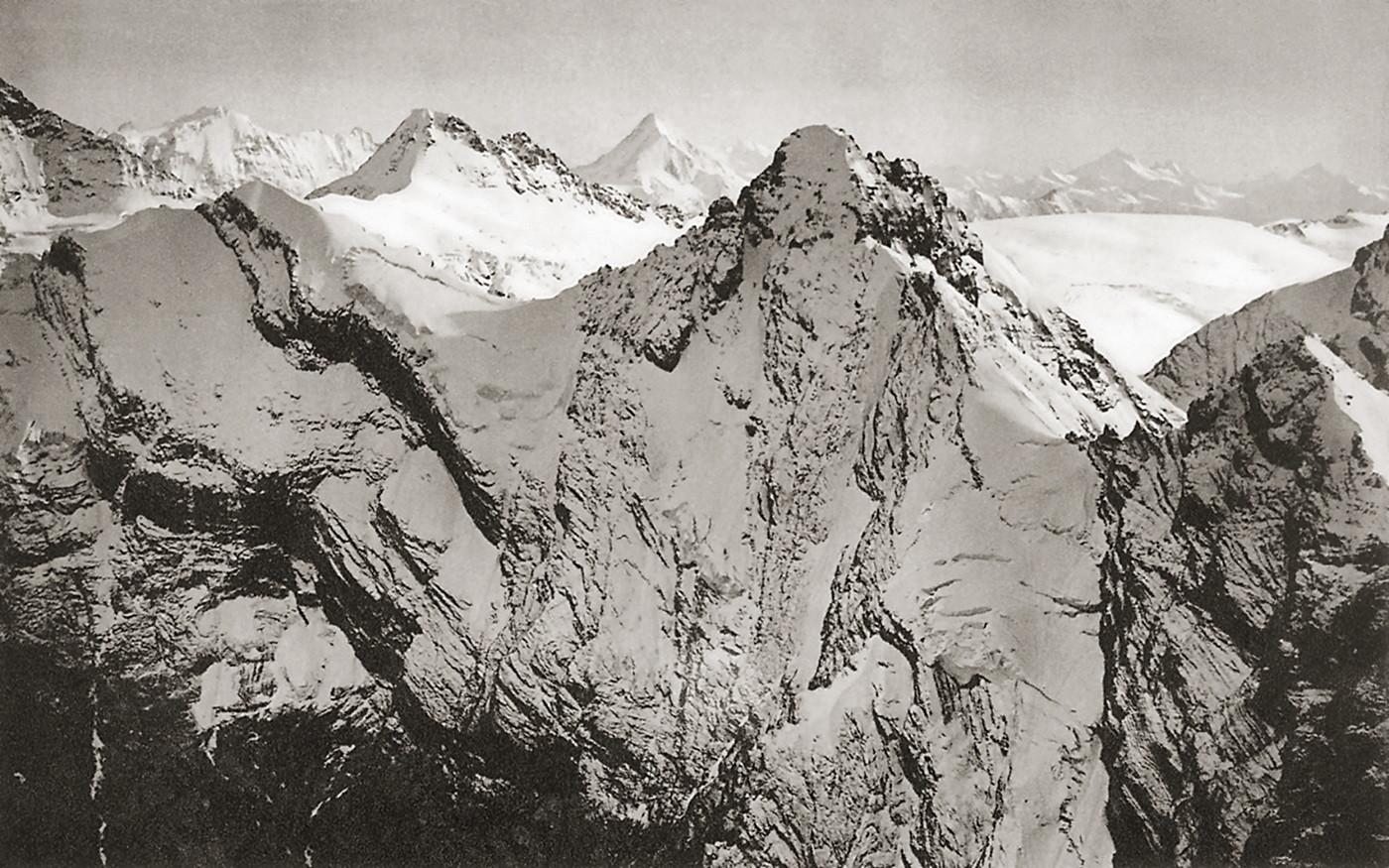Gspaltenhorn, Tschingelhorn, et Bietschhorn , par Eduard Spelterini