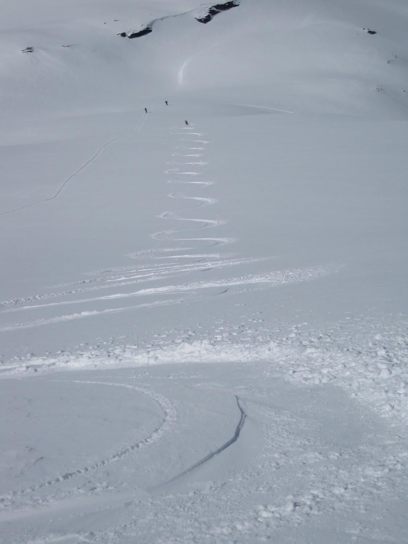 Il magnifico pendio del Mont Rosset