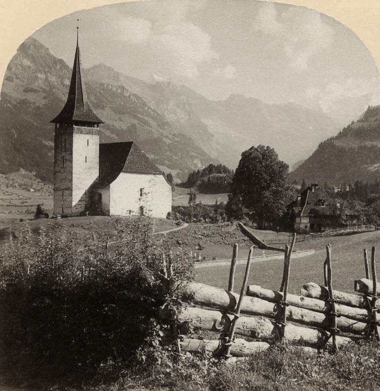 Frutigen par Gabler en 1885
