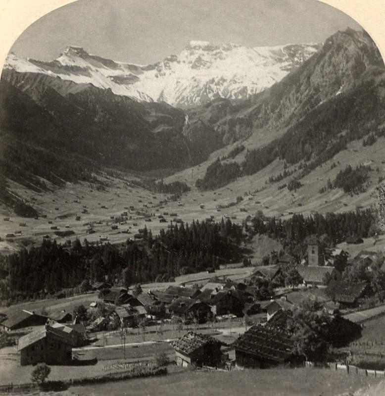 Adelboden - Wildstrubel, par Gabler en 1885