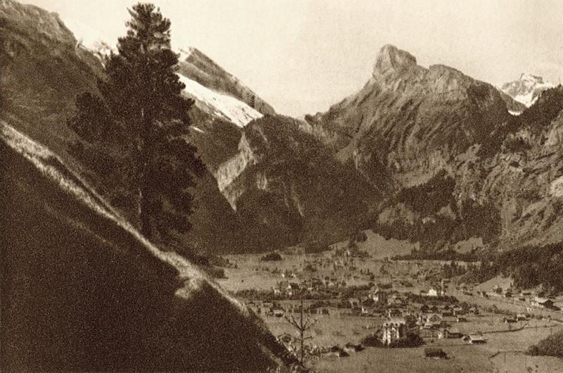 Kandersteg, vue vers la Gemmi par Gyger